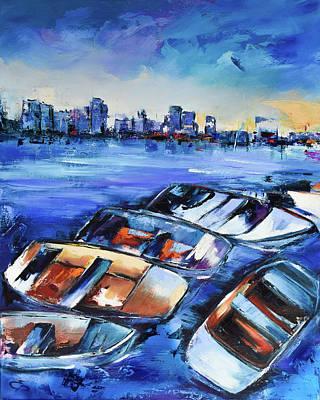 Painting - San Diego Skyline by Elise Palmigiani