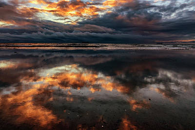 Photograph - San Diego Sunset Reflection 7r2_dsc3091_17-01-14 by Greg Kluempers