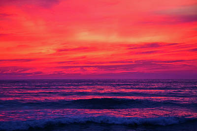 Photograph - San Diego Torrey Pines Sunset by Kyle Hanson