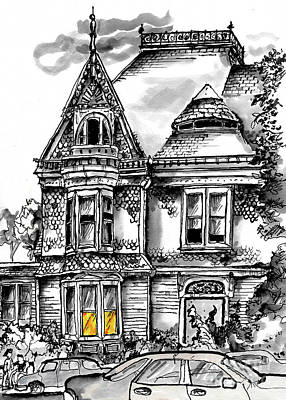 Painting - San Diego Victorian by Terry Banderas