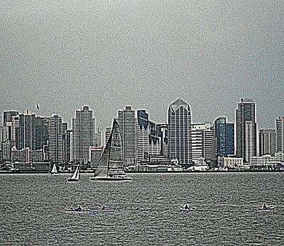 San Diego Waterfront Art Print