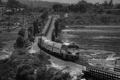 Photograph - San Elijo Amtrak by Dusty Wynne