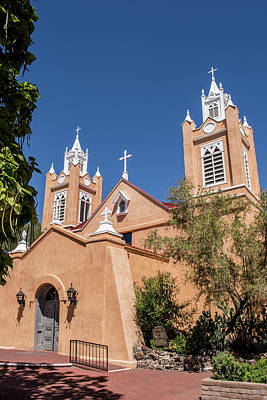 Photograph - San Felipe De Neri Church by Allen Sheffield
