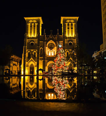 San Fernando Cathedral In Christmas 2010 Art Print