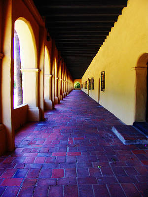 Photograph - San Fernando Valley Mission Arcade by Glenn McCarthy Art and Photography
