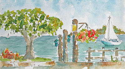 Painting - San Fran Bay From Sausalito by Pat Katz