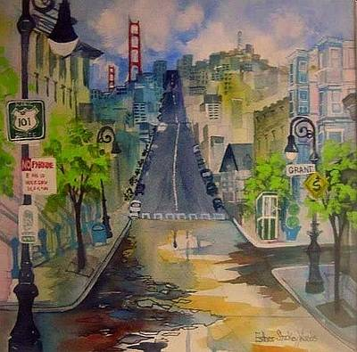 Painting - San Fran Street by Esther Woods