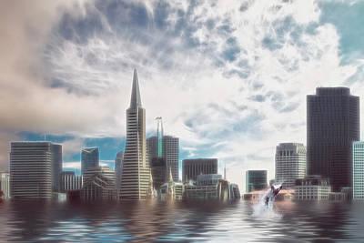 Digital Art - San Francisco 2030 by Mike Braun