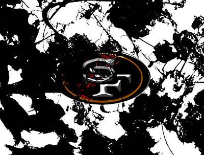 Patriot Mixed Media - San Francisco 49ers 1a by Brian Reaves