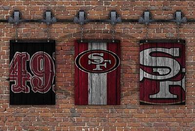 San Francisco 49ers Brick Wall Art Print