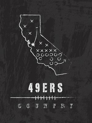 San Francisco 49ers Art - Nfl Football Wall Print Art Print by Damon Gray