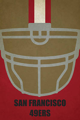 Football Painting - San Francisco 49ers Helmet Art by Joe Hamilton