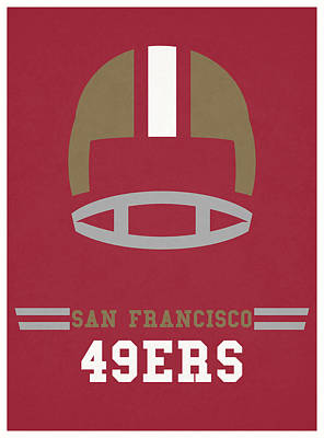 Mixed Media - San Francisco 49ers Vintage Nfl Art by Joe Hamilton