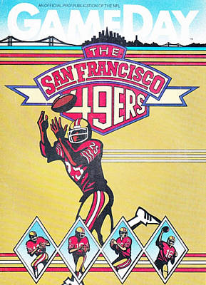 Football Photograph - San Francisco 49ers Vintage Program by Joe Hamilton