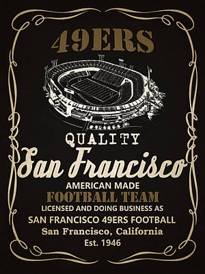 Painting - San Francisco 49ers Whiskey 2 by Joe Hamilton