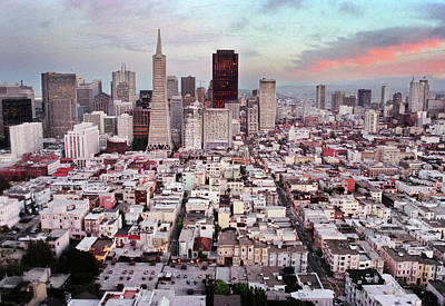 Downtown San Francisco Photograph - San Francisco Aerial Skyline by Ryan McGinnis