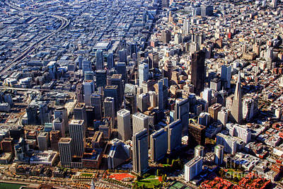 Photograph - San Francisco Aerial View Planet Earth by James BO Insogna