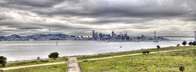 Photograph - San Francisco And Bay Bridges by SC Heffner