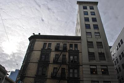 Photograph - San Francisco Apartment Building - Clouds And Sun by Matt Harang