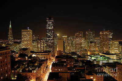 Photograph - San Francisco At Night by Paul Warburton