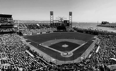 San Francisco Ballpark Bw Art Print