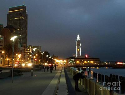 Photograph - San Francisco Bay At Night by Haleh Mahbod