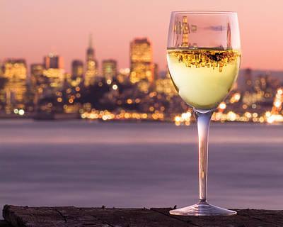 Angel Island State Park Photograph - San Francisco Bay Wine Glass by David Rigg