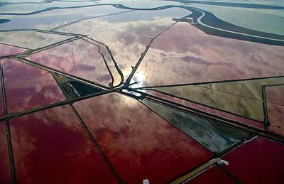 Salt Flats Digital Art - San Francisco Bay Salt Flats 1 by Sylvan Adams