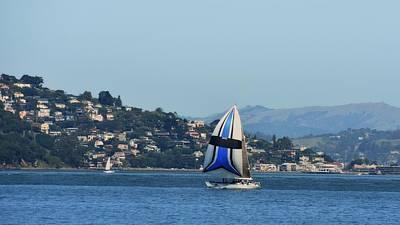 Sailing Photograph - San Francisco Bay Seascape by Scott Cameron