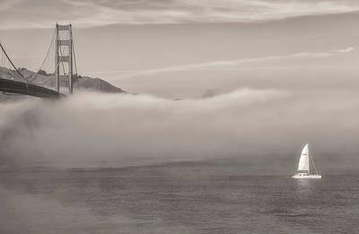 Photograph - San Francisco Bay - Sepia by Jonathan Nguyen