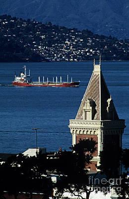 Photograph - San Francisco Bay With Tanker  by Jim Corwin