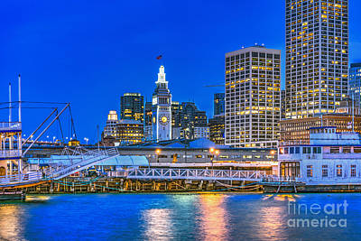 Photograph - San Francisco Belle Downtown Night by David Zanzinger