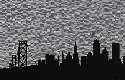 Composition Digital Art - San Francisco Black And White by Alberto  RuiZ