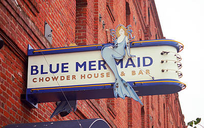 Photograph - San Francisco Blue Memaid by Frank Romeo
