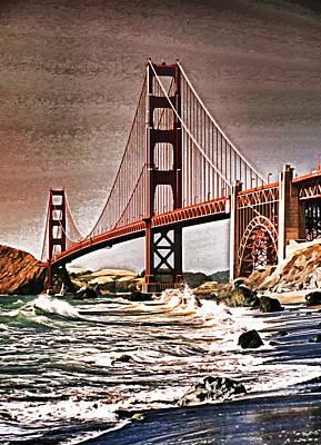 San Francisco Bridge View Art Print by Dennis Cox WorldViews