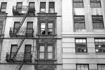 Photograph - San Francisco Building Fire Escape - Black And White by Matt Harang