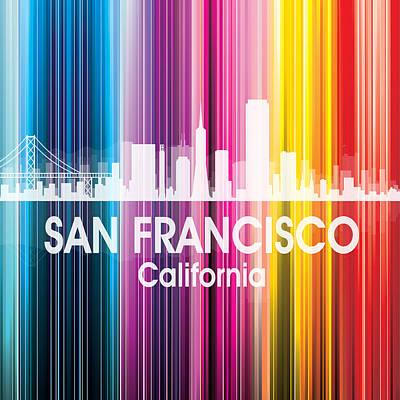 Digital Art - San Francisco Ca 2 Squared by Angelina Vick