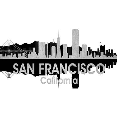 Digital Art - San Francisco Ca 4 Squared by Angelina Vick