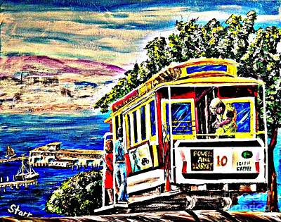 Most Popular Painting - San Francisco Cable Car Art by Irving Starr
