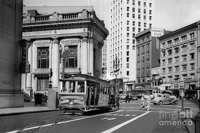 Photograph - San Francisco Cable Car During Wwii by Wernher Krutein