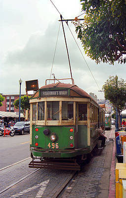 Photograph - San Francisco Trolley Car by Frank Romeo
