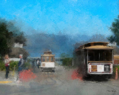 Painting - San Francisco Cable Car by Fred Baird