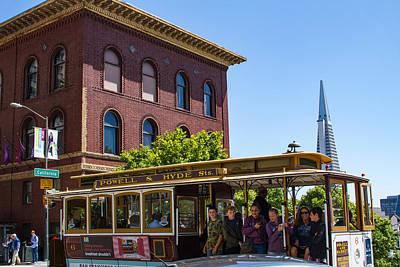 Photograph - San Francisco Cable Car On California St by Bonnie Follett