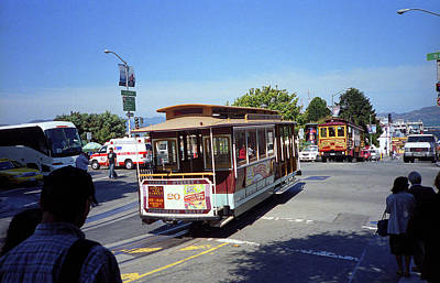 Photograph - San Francisco Cable Cars 2 by Frank Romeo