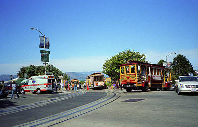 Photograph - San Francisco Cable Cars 3 by Frank Romeo