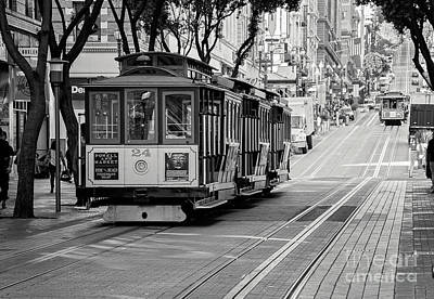 Art Print featuring the photograph San Francisco Cable Cars by Eddie Yerkish