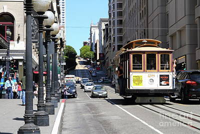 Photograph - San Francisco Cablecar On Powell Street 7d7263 by San Francisco Art and Photography