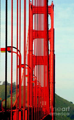 Photograph - San Francisco Golden Gate Bridge Symphony In California by Michael Hoard
