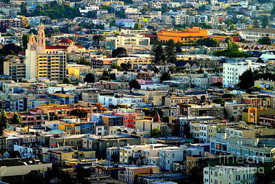 Photograph - San Francisco California Scenic  Rooftop Landscape by Michael Hoard
