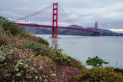 San Francisco California's Golden Gate Bridge Art Print by Gregory Ballos